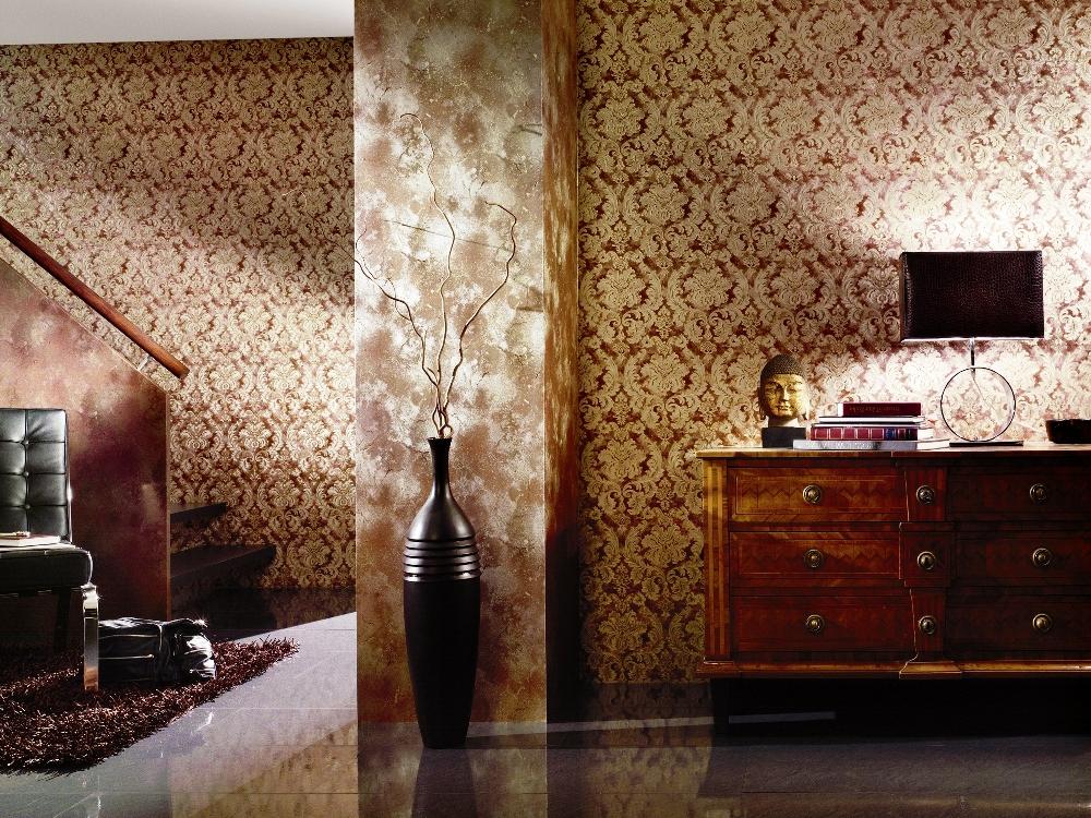 Комбинирование обоев в интерьере гостиной — идеи оформления