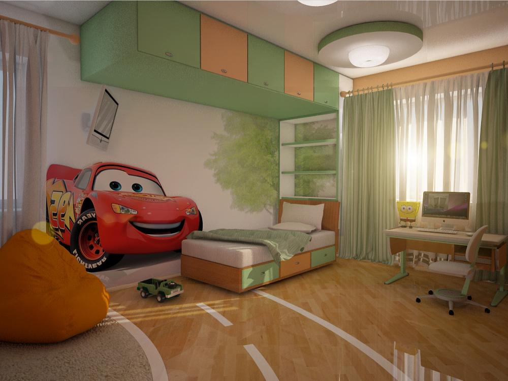 Dizajn detskej izby pre chlapca vo veku 6 rokov