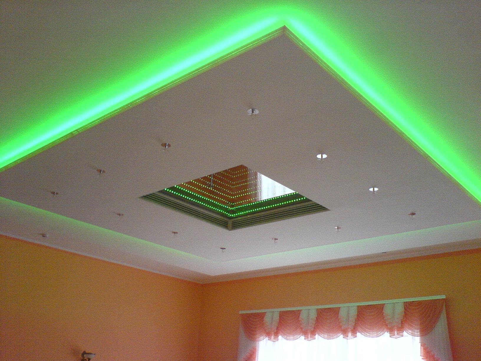 Светодиодный потолок своими руками — оригинальное освещение в квартире