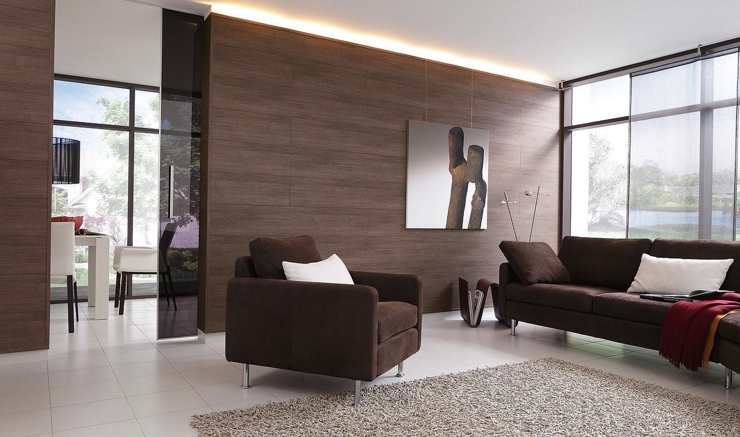 Ламинат на стене — стильное решение в интерьере квартиры своими руками