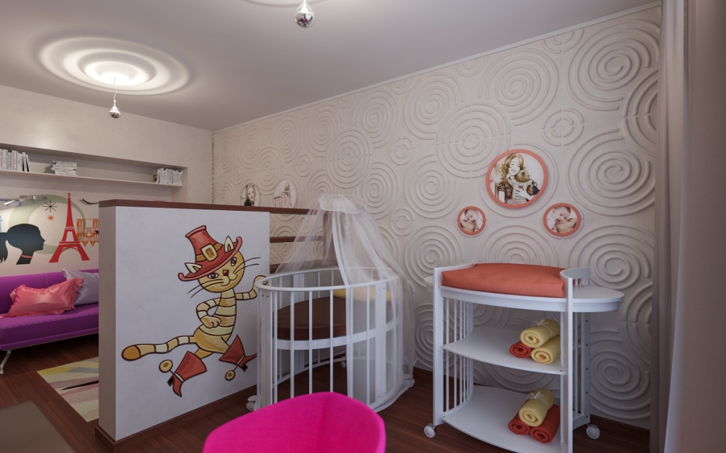 Идеи однокомнатной квартиры с детской фото