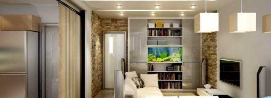 Дизайн однокомнатной квартиры 40 кв.м.