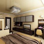 Дизайн спальни 20 кв. м.