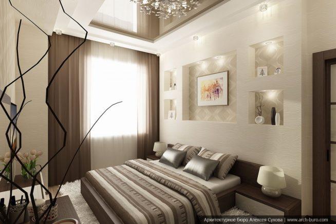 Спальня дизайн 14 кв м