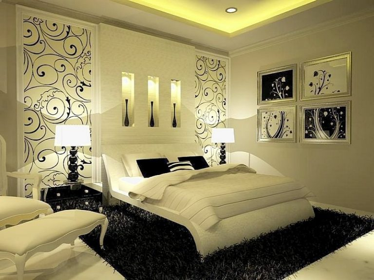 Дизайн стен в спальне 12 кв.м