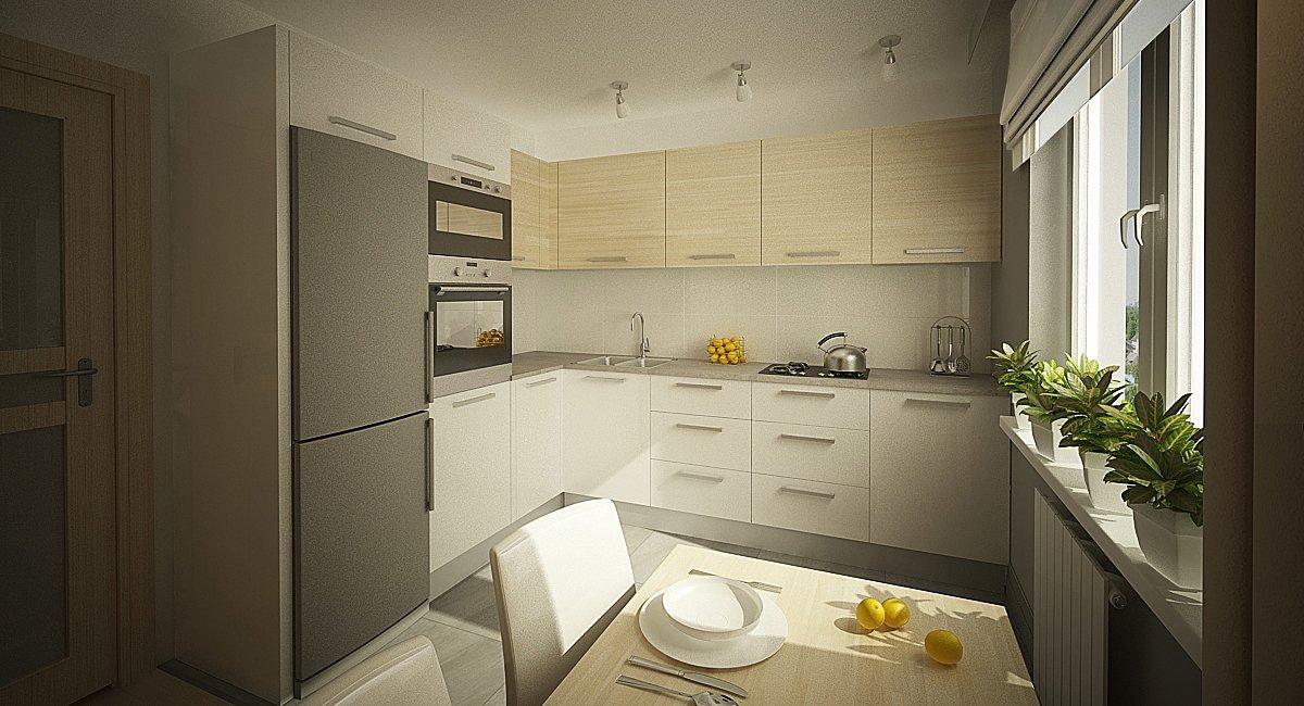 Ремонт прямоугольной кухни 9 кв м