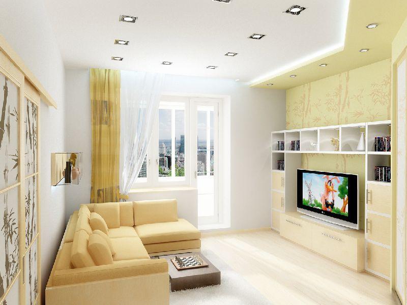 Дизайн гостиной 18 кв. м.