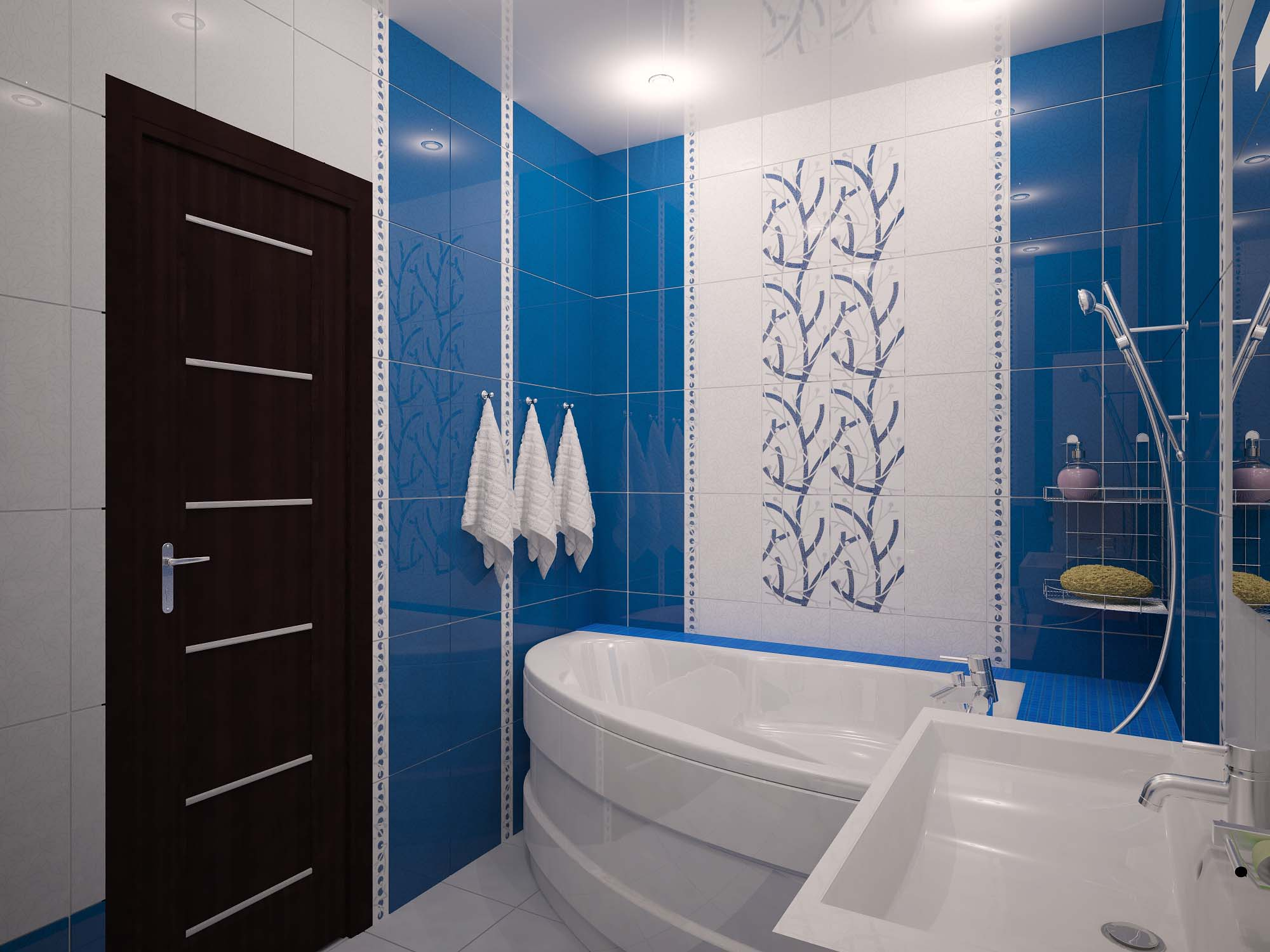 Ванные комнаты с кабинкой дизайн