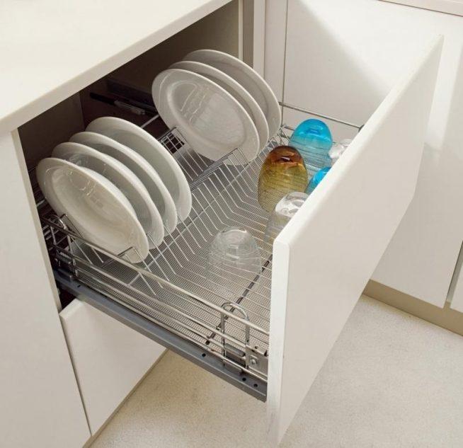 Секции для сушки посуды со съёмными поддонами