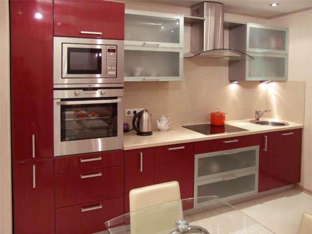 Интерьер встроенной кухни