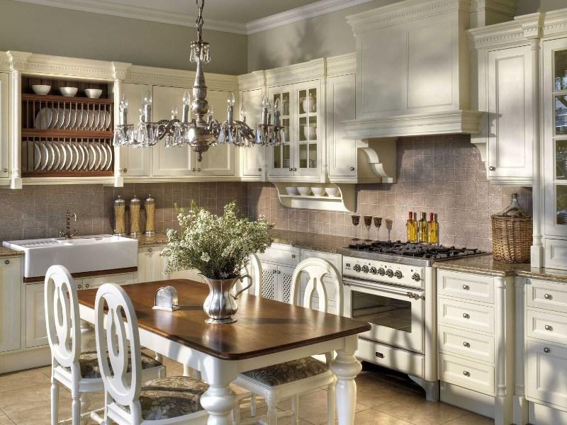 Английский стиль в интерьере кухни фото