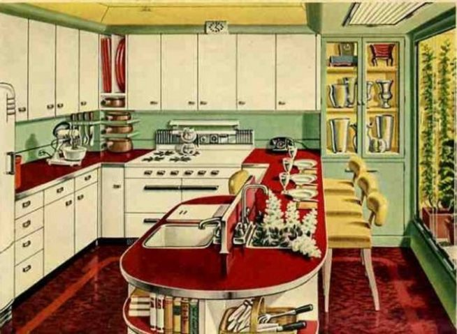 Планировка кухни 50-х