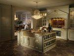 Оливковая цветовая гамма на кухне