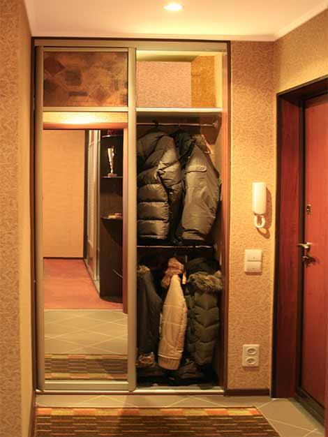 Встроенный шкаф купе в прихожую фото своими