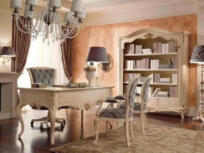 рабочий кабинет в стиле рококо