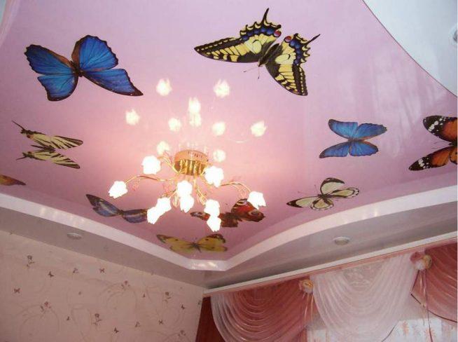 Декоративные интерьерные наклейки для ремонта натяжного потолка