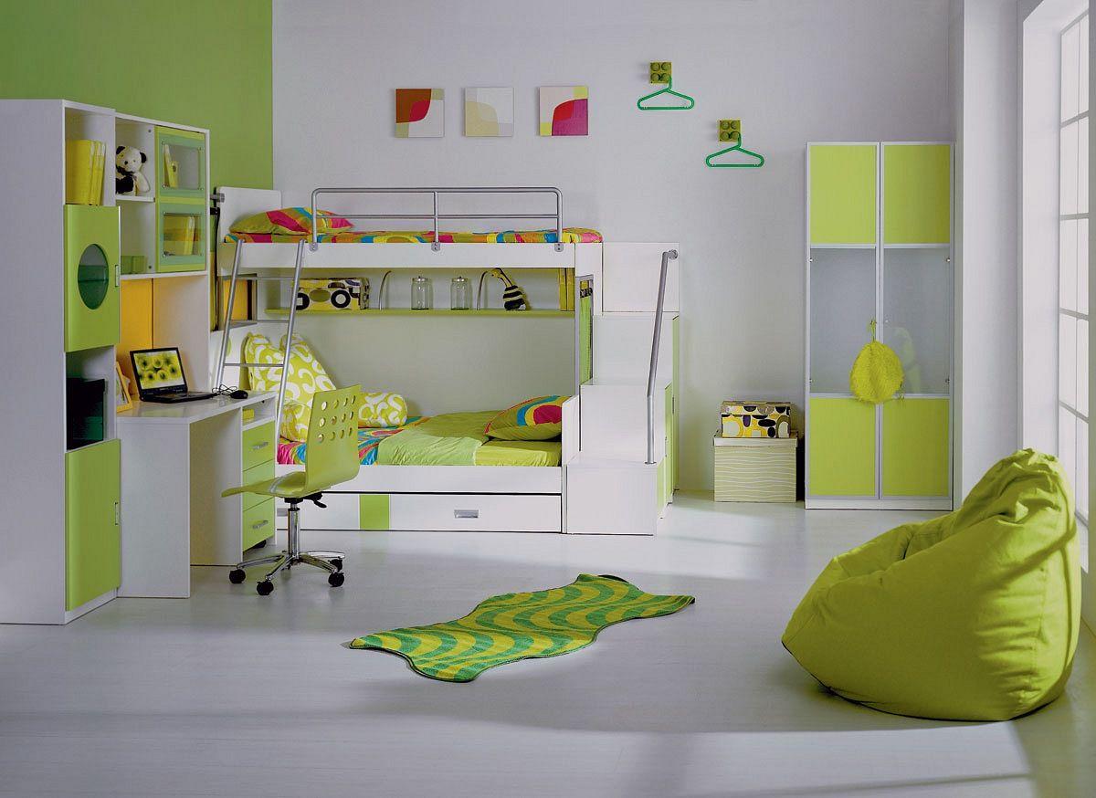 Зеленая детская комната для мальчика фото дизайн