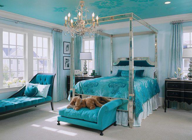 Эклектика спальня