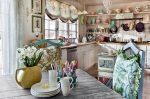 Кухня-гостиная в стиле шебби-шик