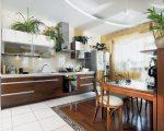 Много цветов на кухне