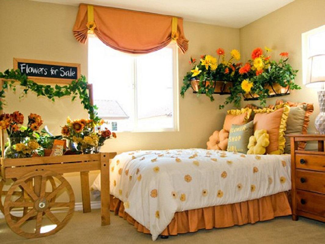 Цветы в детской комнате