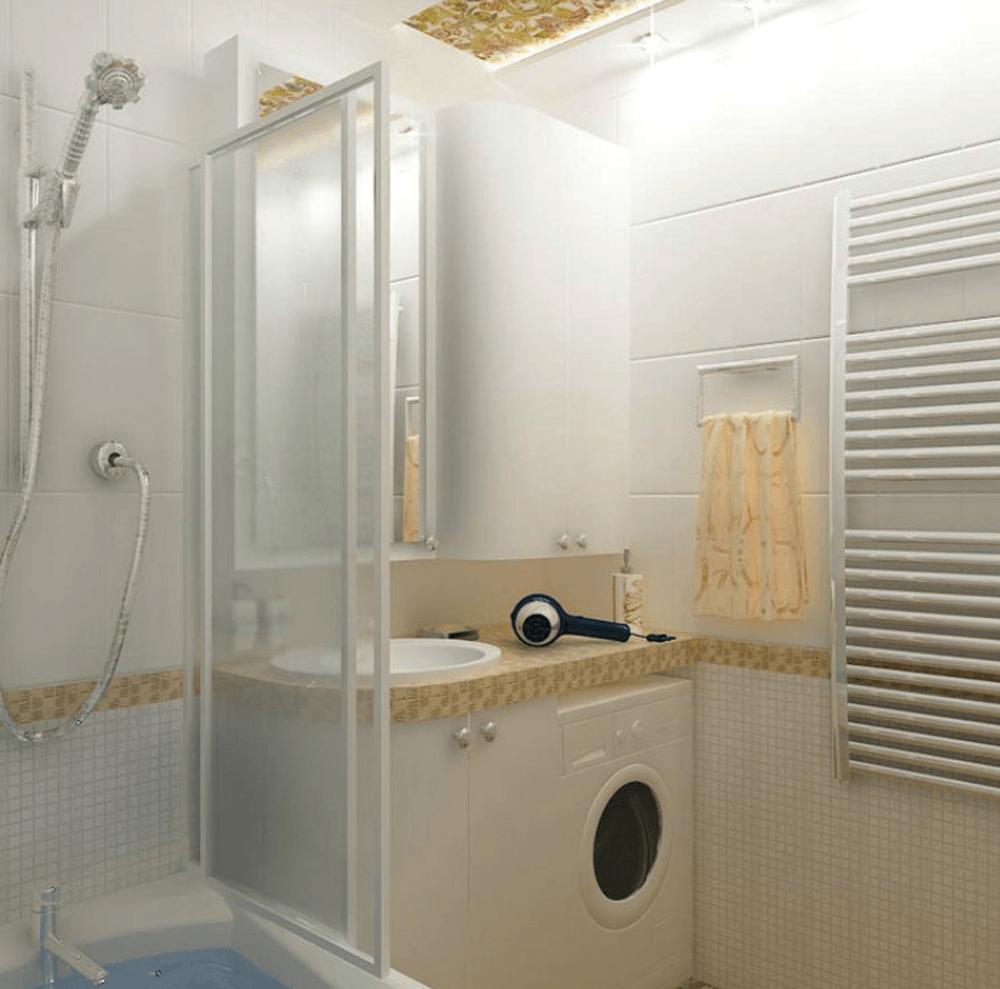 Ванная комната 3.9 кв.м дизайн