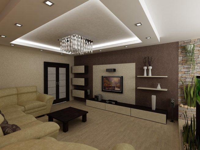 Дизайн гостиной 17 кв м в квартире - варианты интерьера ... Небольшой Дом в Стиле Хай Тек