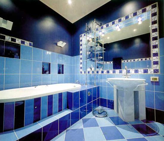 Несколько видов кладки плитки в ванной