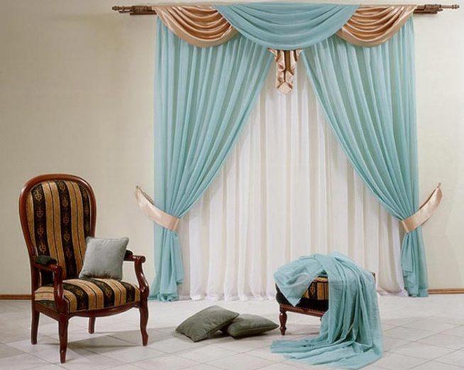Выбор цвета штор для зала