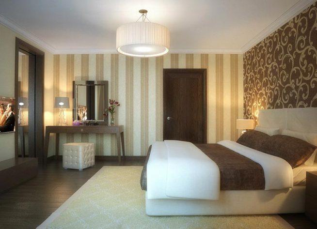 Способы оформления стен в спальной комнате