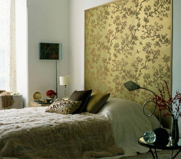 Акцентная стена в дизайне спальной комнаты