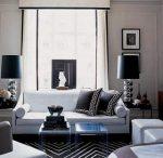 Черно-белая гостиная