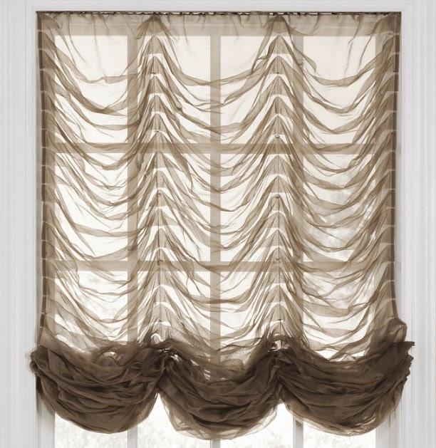 Короткие шторы из органзы