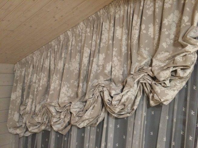 Лёгкие австрийские шторы
