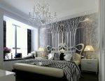 Спальня с оригинальным декором