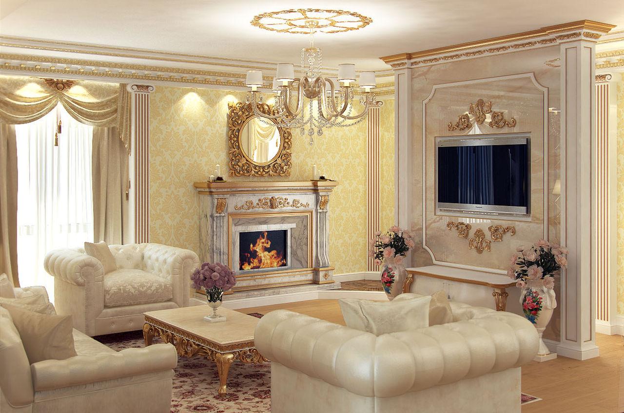 Классические гостиные интерьер фото