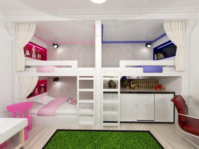 Детские спальни на 3 детей 94