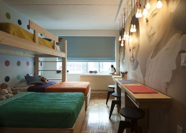 Особенности дизайна детской комнаты для троих детей