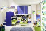 Синий цвет в интерьере детской для мальчиков