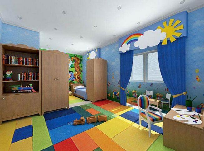 Возможные способы зонирования пространства в детской