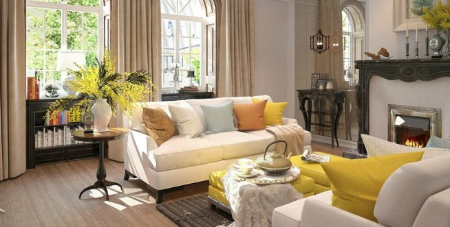 Мебель в американской гостиной