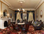 Дизайн тёмной гостиной в стиле барокко