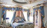 Голубая спальня барокко