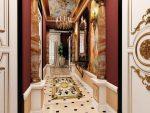 Дизайн узкого коридора в стиле барокко