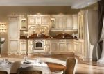 Дизайн кухни-столовой в стиле барокко