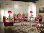 Красная мебель в интерьере барокко