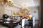 Шикарные люстры в гостиной в стиле современная классика