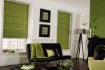 Римские шторы цвета оливы