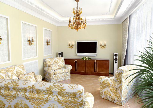 Гостиная барокко для небольшой квартиры