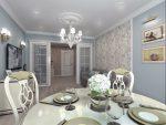 Современная классическая гостиная-столовая